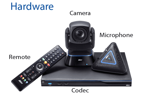 The design of the AVer EVC130P videoconferencing kit