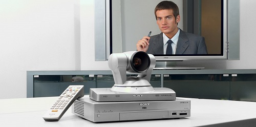 Videoconferencing with sony pcs-xg80