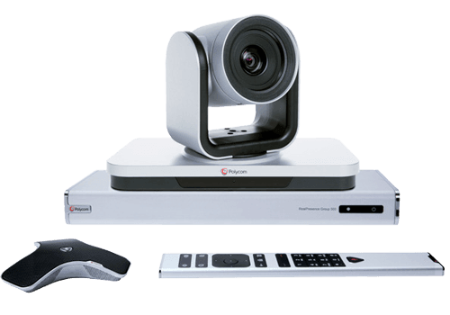 Polycom Group 500 video conferencing equipment