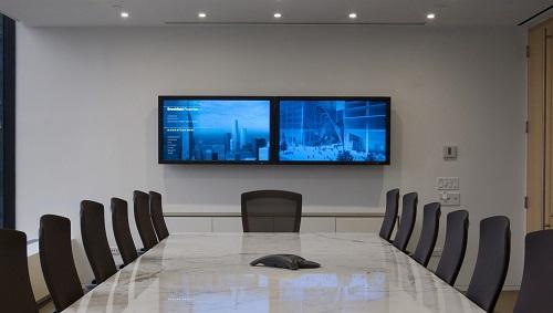 màn hình kép hội nghị truyền hình