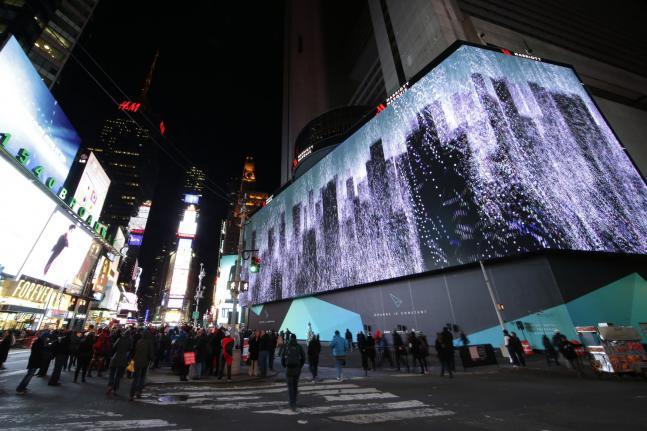 Màn hình ghép lớn nhất thế giới tại New York