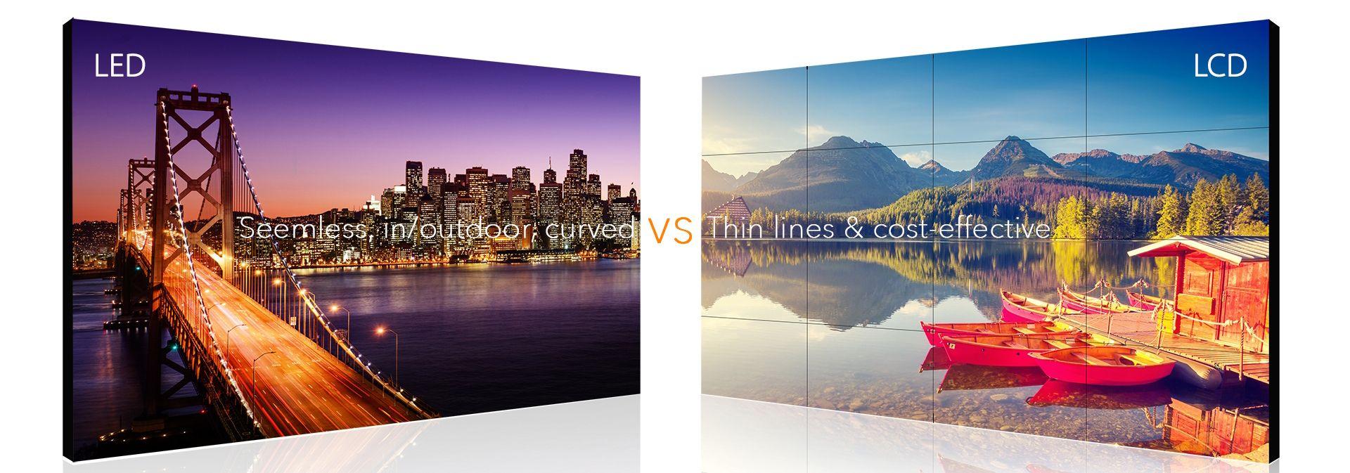 Các ứng dụng công nghệ của Màn hình ghép LED và LCD: