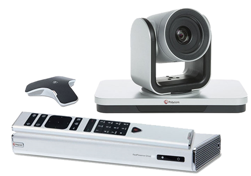 Polycom Group 310 video conferencing equipment