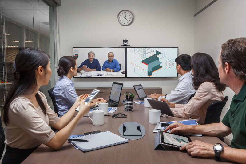 Polycom Group500 supports image resolution up to Full HD 1080p