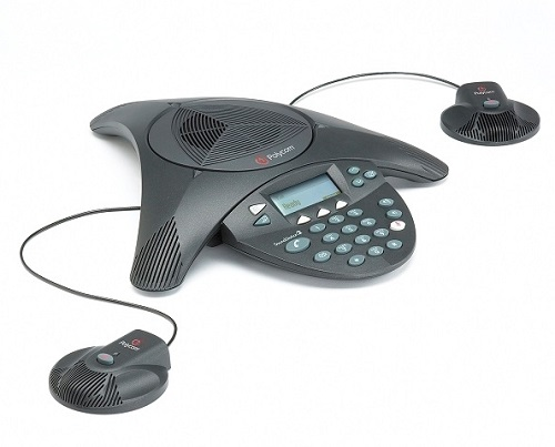 Polycom soundstation 2 with 2 mic extension