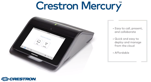 Crestron Mercury  video conferencing equipment