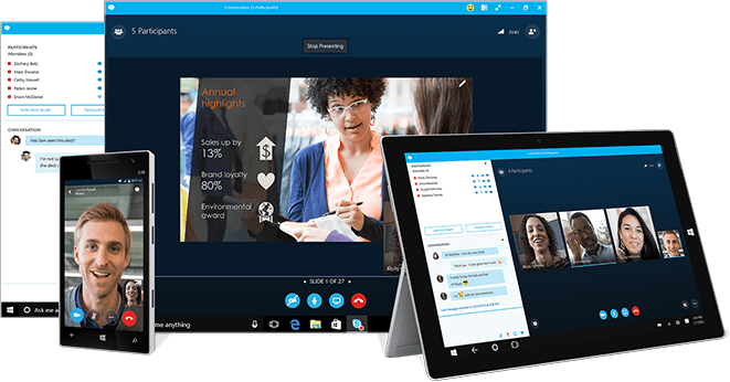 Skype for Business video conferencing application